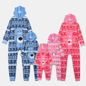 Care Bears Family Matching Rainbow and Cloud Fairisle Hooded Christmas Pajamas Onesies (Flame Resistant)