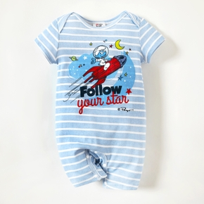 Smurfs 100% Cotton Stripe Baby Romper/One Piece