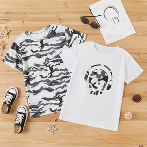 Kid Boy Trendy Camouflage Short-sleeve T-shirt