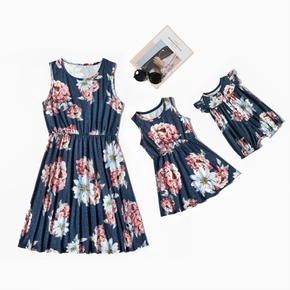 Floral Print Tank Dresses for Mom and Me