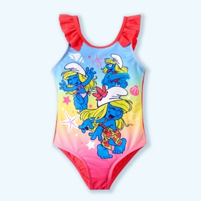 Smurfs Toddler Girl Flounced Swimsuit One Piece