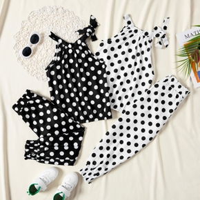 2-piece Trendy Polka Dots Top and Pants Sets