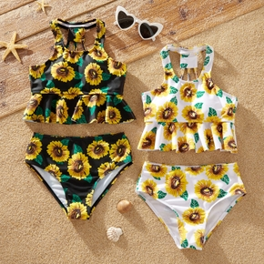 2 pcs Kid Girl Floral Swimsuit
