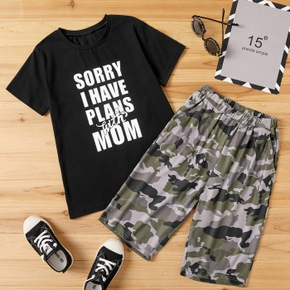 Fashionable Kid Boy Camouflage Casual Set