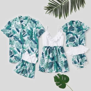 Leaves Print Family Matching Tops
