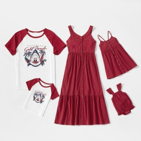 Mosaic 100% Cotton Family Matching Red and White Sets
