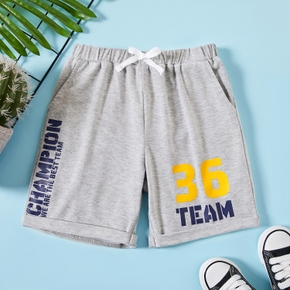 Kid Boy Sports Letter Middle  Casual  Sweatpants