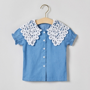 Toddler Girl Casual Lace Collar Shirt