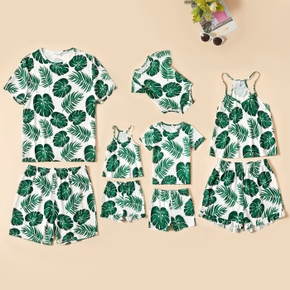 Family Leaf Print Matching Pajamas Set(Flame Resistant)