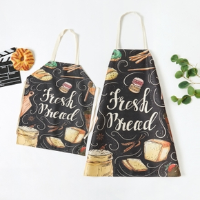 Letter Print Kitchen Family Matching Aprons