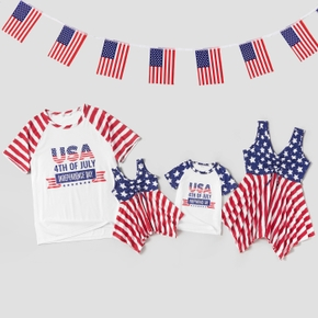 Independence Day Stripe and Star Family Matching Tops