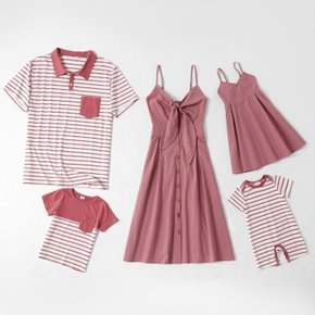 Mosaic 100% Cotton Solid and Stripe Family Matching Sets