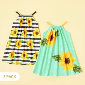 2-piece Toddler Girl Sunflower Striped Dress