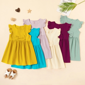 Toddler Girl Bowknot Solid Dress