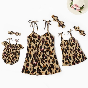 Leopard Print V Neck Matching Camisole Top