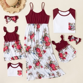 Mosaic Floral Print Splice Family Matching Sets