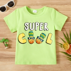 Toddler Boy Funny Letter Print Tee