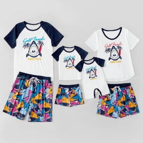 Colorful Shark Pattern Family Matching Pajamas Sets(Flame Resistant)