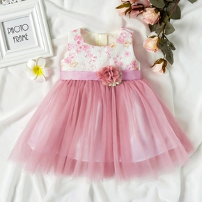 Baby Girl Sweet Costumes Formal Dresses Tuxedos Sleeveless Tulle Princess Baby Dress
