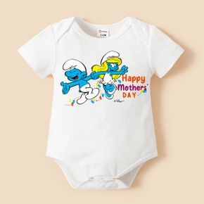 Smurfs Baby Boy/Girl My First Mother's Day Cotton Romper/Bodysuit