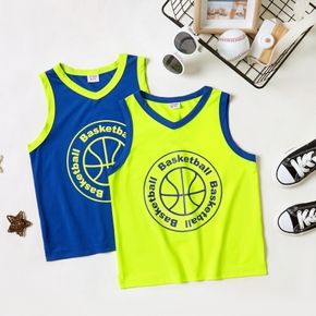 'Basketball' Letter Print Athleisure Tank for Toddlers / Kids