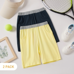 2-pack Solid Athleisure Shorts for Toddlers / Kids