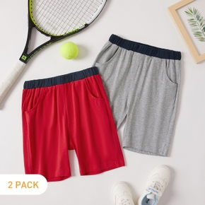 2-pack Solid Shorts for Toddlers / Kids