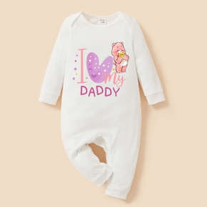 Care Bears Baby Boy/Girl Daddy's Sweetheart 100% Cotton Jumpsuit