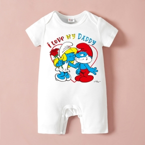 Smurfs Baby Boy/Girl Daddy's Sweetheart Father's Day Cotton Romper