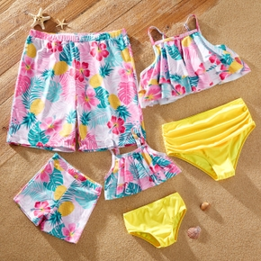 Floral Print Family Matching Swimsuits