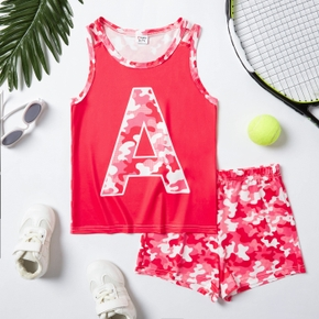 Camouflage Tank Top and Shorts Athleisure Set for Toddlers / Kids