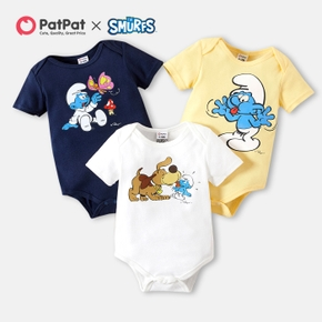 Smurfs Baby Boy/Girl Butterfly and Dog 100% Cotton Romper