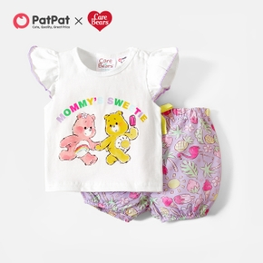 Care Bears 2-piece Baby Girl Mommy's Sweetie Top and Fruits Bloomer Set