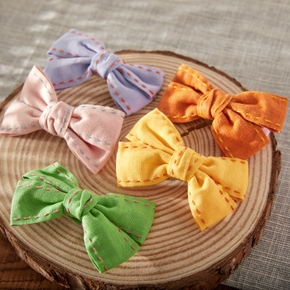 2-pack Pretty Solid Bowknot Hairbands for Girls