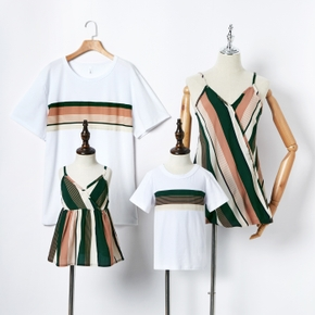Stripe Print Family Matching Tops(Cami Tops for Mom and Girl)