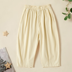 Kids Girl Comfortable Solid Pants
