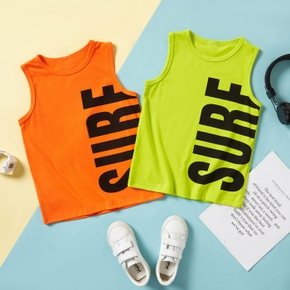 'Surf' Print Tank Athletic Top for Toddlers / Kids