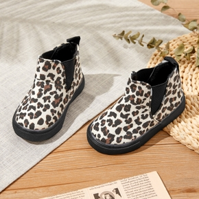 Toddler / Kid Leopard Print Suede Boots
