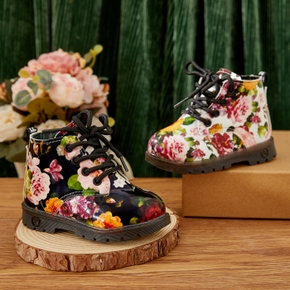 Toddler / Kid Floral Print Mid-calf Boots