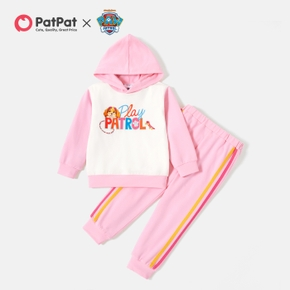 PAW Patrol 2-piece Toddler Girl Cotton Colorblock Hoodie and Pants Set