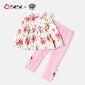 PAW Patrol Toddler Girl 2-piece Floral Allover Tops and Leggings Set