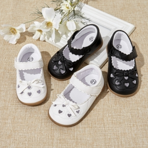 Toddler Solid Bow Decor Hollow Out Shoes