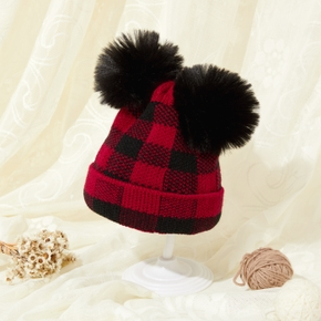 Baby / Toddler Plaid Print Knitted Hat