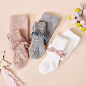 Baby / Toddler / Kid Solid Bowknot Stockings (Various colors)