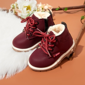 Toddler / Kid Fleece-lining Solid Boots