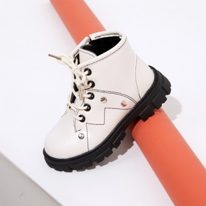 Toddler / Kid Solid Shoelace Decor Boots