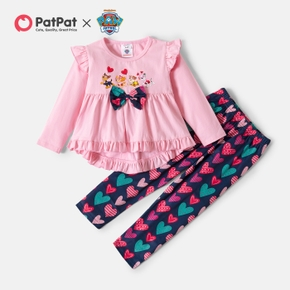 PAW Patrol Toddler Girl 2-piece Hi-Lo Tee and Heart Allover Pants Set