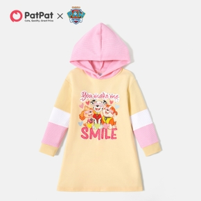 PAW Patrol Toddler Girl Colorblock 'Happy Pups' Hooded Dress