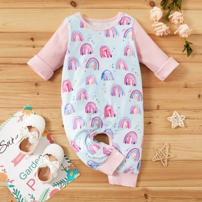 2-piece Baby Rainbow Allover Jumpsuits with Headband