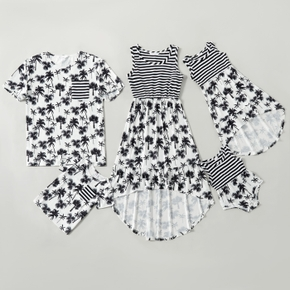 Mosaic Coconut Tree and Stripe Family Matching Sets